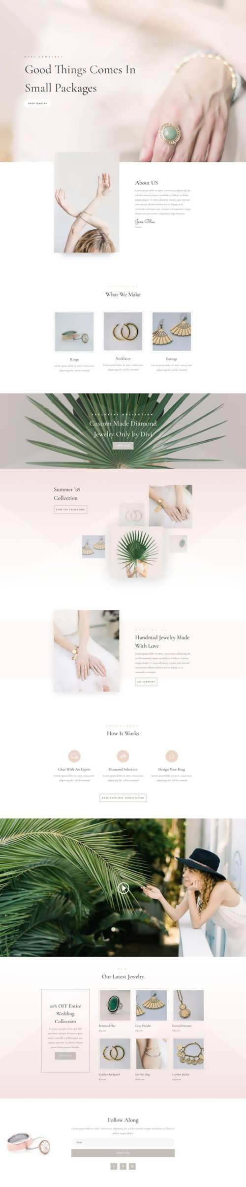 jeweler landing page