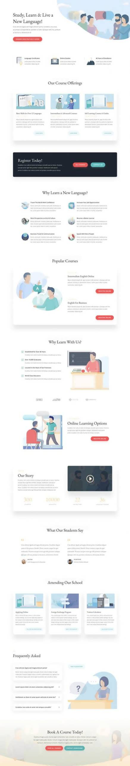 language school landing page scaled