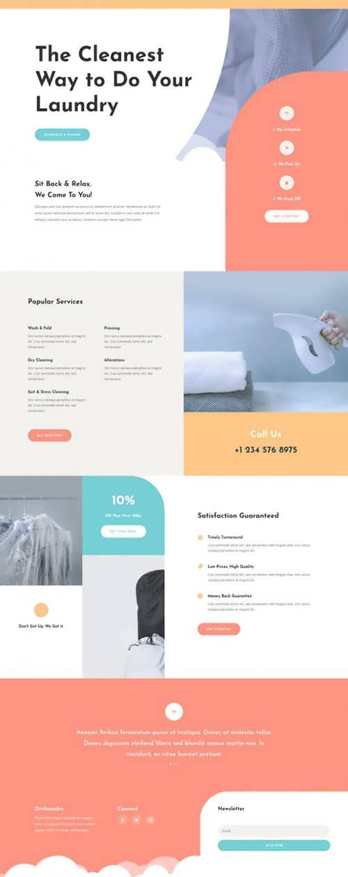laundry service landing page