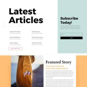 magazine landing page