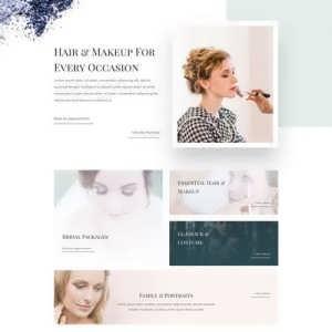 makeup artist landing page