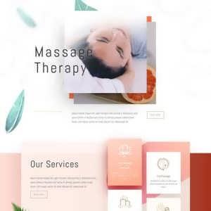 massage therapy landing page