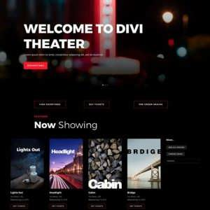 movie theater landing page