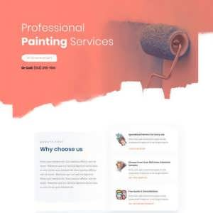painting service landing page