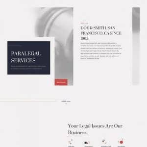 paralegal landing page