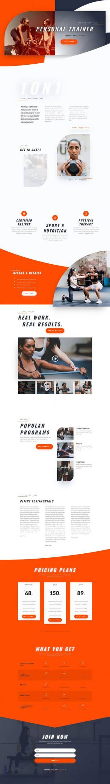 personal trainer landing page scaled