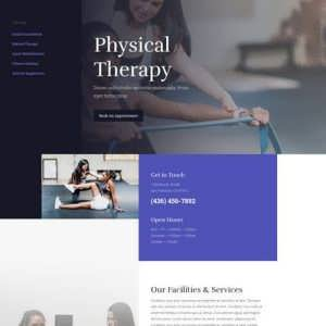 physical therapy landing page