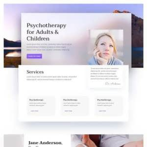 psychologist landing page