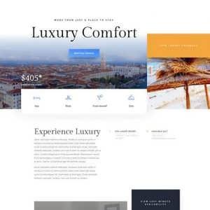 resort landing page