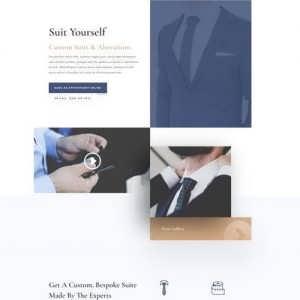 suit tailor landing page