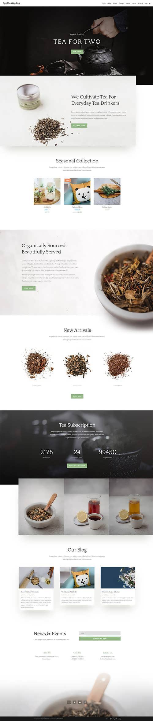 tea coffee layout