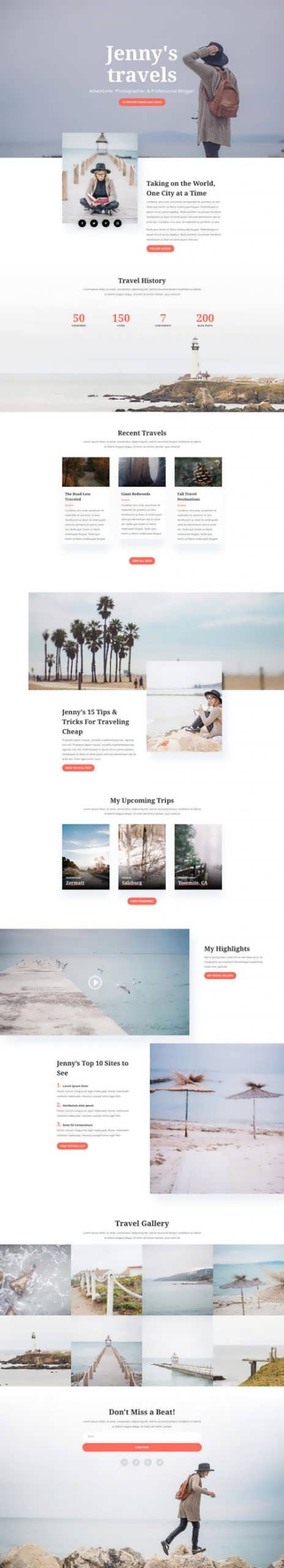travel blog landing page scaled