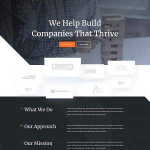 venture capital firm landing