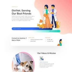 veterinarian landing page