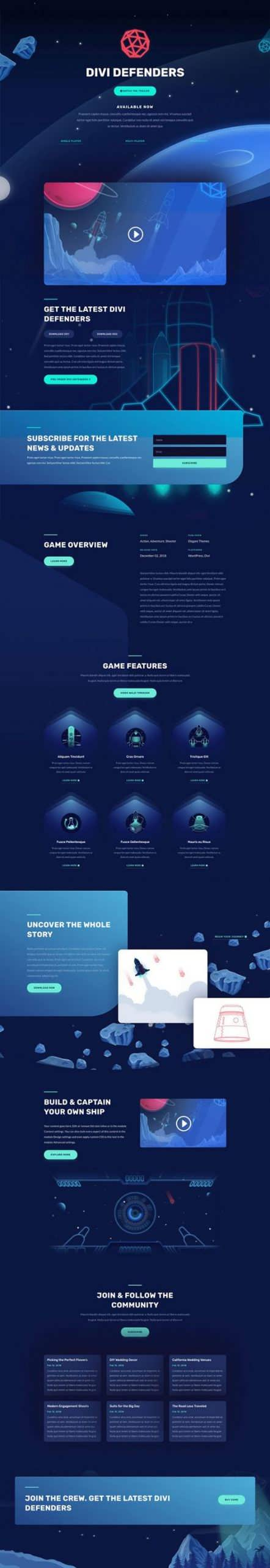 video game landing page scaled