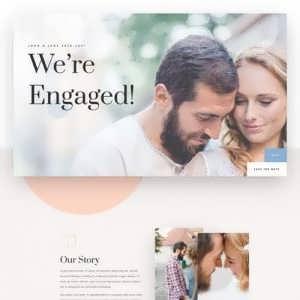 wedding engagement landing page