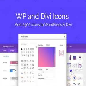 wp divi icons