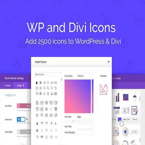 wp divi icons