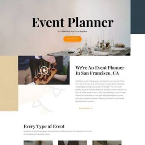 event planner landing page